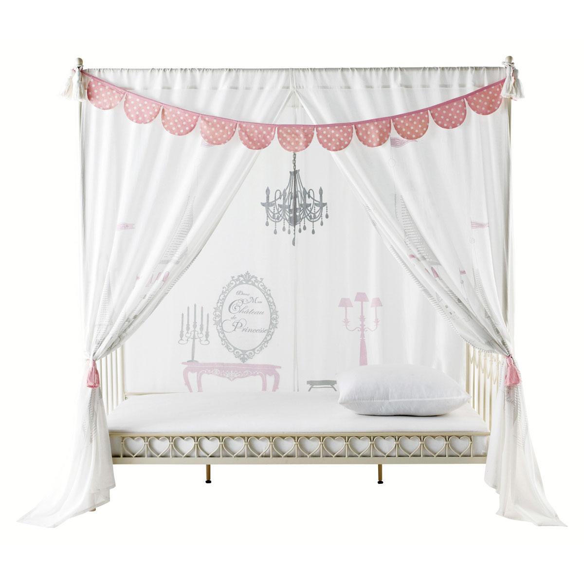Chambre de princesse comme cendrillon avant minuit - Lit baldaquin enfant fille ...
